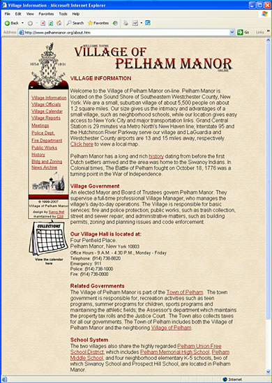 Click here to visit Village of Pelham Manor website